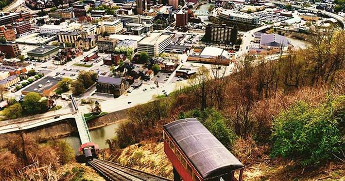 City of Johnstown from the scenic inclined plane overlook